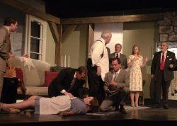 Everyone is Accused. Evan Milberg, Amy Wolf (on floor) Bob Cohen, Bailey R. Center, Davis James, Jenni Patton and Jim Howard