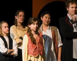 Erik Harrison as Mercutio, Chorus as Lily Penn, Samantha White, Megan Wirtz, Diana Kleiman