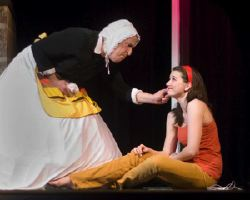 David Adler as Nurse and Emily Whitworth as Juliet