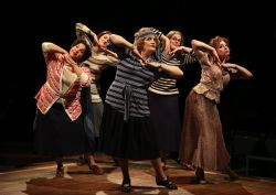Rayanne Gonzales as Mrs. Squires, Tina Stafford as Alma Hix, Barbara Tirrell as Eulalie Mackecknie Shinn, Janet Aldrich as Maud Dunlop and Katerina Papacostas as Ethel Toffelmier