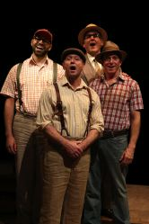 Justin Lee Miller as Olin Britt, Joe Peck as Ewart Dunlop, Lawrence Redmond as Oliver Hix and Michael Brian Dunn as Jacey Squires