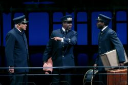 Larry Marshall as Monroe, Cleavant Derricks as Sylvester, and Warner Miller as Cephas