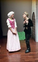 Rap-Punzel shows Ashley Britton ('Rapunzel') and Alex Flood ('The Prince')