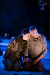 Katie deBuys and Jens Rasmussen in silent sorrow
