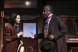 Holly Twyford as Tranio and Craig Wallace as Gremio