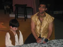 Theo (Jason Kalshoven) and Pippin (Ben Harris)