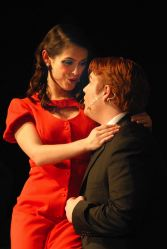 Samantha Ross and Patrick Shaughnessy as Hedy LaRue and J. B