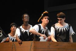Pirates- played by Noah Calderon, Sallieu Fallah, Andrew Barat, and Matt Goodson