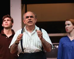 James Myers (Warren Ives), Steve Rosenthal (Morris Lipkind) and Heather Benjamin (Lesley Rosen)