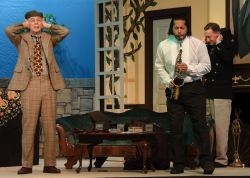 John Shackelford (Max Levene), Brandon DeGroat (Joe Pendleton), and Cal Whitehurst (Mr. Jordan)