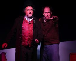 Chris Gillespie (Judge Turpin) and Harv Lester (Sweeney Todd)