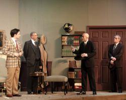 Russell Silber (Leonard), John Barclay Burns (Mr. Mayhew), Peter Alden Hyde (Detective Inspector Hearne), and Robert Ford (Dectective)