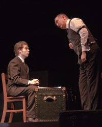 Erik Harrison (Arthur Kipps) and Elliott Bales (The Actor)