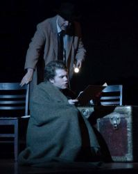 Elliott Bales (The Actor) and Erik Harrison, sitting (Arthur Kipps)