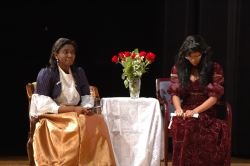 The Duchess of Berwick (Ebonee Johnson) and Lady Agatha (Briana Carter)