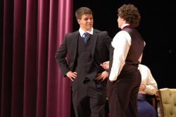Lord Windermere (Michael Hibbs) and Cecil Graham (Jake Pearson)