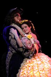 Dane Agostinis as Beast and Emily Behny as Belle