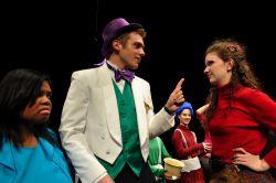(Ms. Teevee) Nora Ogunleye; (Willy Wonka) Larson Gore; (Veruca Salt) Kirsten O'Sullivan