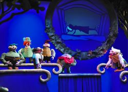 Six of the seven dwarves gather