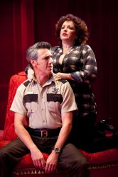 Thomas Adrian Simpson (as Sheriff Ed Earl Dodd) and Sherri L. Edelen (as Miss Mona Stangley)