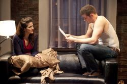 Kelly (Rachel Zampelli) listens as Peter (Thomas Keegan) remembers his twin brother Craig