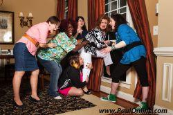Rene (Meg Roosma), Olive (Vicki Sanders), Mickey (Janet Devine Smith), Vera (Sonya Kalian), Flo (Beverly Pruzina) and Sylvie (Annie Scanlon)