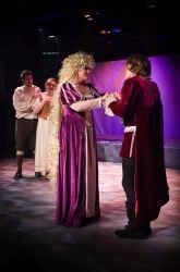 Ashley San as Rapunzel and Eben Kuhns as The Prince