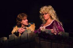 Eben Kuhns (The Prince) and Ashley San (Rapunzel)