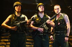 Zana Gankhuyag as Kid, Vato Tsikurishvili as Son, Matthew Ward as Jackal