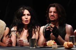 Irina Tsikurishvili as Katherine, Ryan Sellers as Petruchio