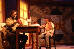 Matthew Vaky as 'Galileo' and Garrett Christian as 'Young Andrea'
