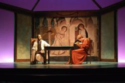 Matthew Vaky as 'Galileo' and David Johnson as 'The Little Monk'