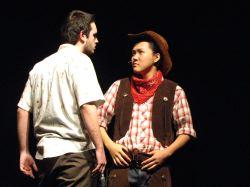 Brad Cooley (Jud Fry), Purev Arslanbaatar (Curley)