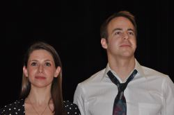Lauren Palmer Kiesling and Steve Oliverez as Sara and David