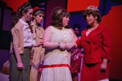 Erica Glaser as Penny Pingleton, Julie Anne O'Donnell as Wilbur Turnblad, Kelsey Allison at Tracy Turnblad and Christie Joyce as Edna Turnblad