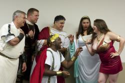 Michael McCarthy as Manes, Gary Wynn as the Spartan Ambassador, Sidney Davis as Micon, Paul Davis as the Athenian Magistrate, Erin Michelle Jones as Calonice, and Lauren Beward as Myrrhine