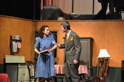 Catherine Ariale, Drew Holcombe as Anne & Otto Frank