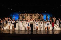 The full cast of Anything Goes performs 'Anything Goes.'