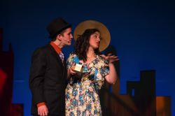 Des O'Brien as Nathan Detroit and Anna Martone as Adelaide