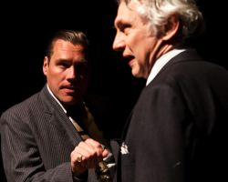 Eric Lucas as prosecutor Robert Crowe and Michael Kramer as defense attorney Clarence Darrow