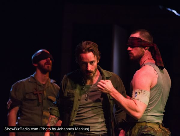 Keegan Cassady as Lennox, Joe Carlson as Macbeth, James Finley as Fleance