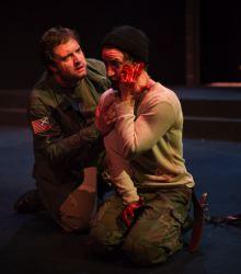 Matt Dewberry as Gruoch, Joe Carlson as Macbeth