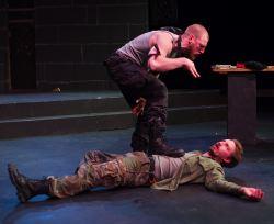 Will Hayes as Hecate, Joe Carlson as Macbeth