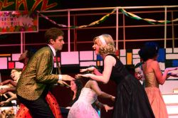 Daniel Zucker (Kenickie) and Rebecca Bradley (Rizzo) and the cast of Grease: 'Born To Hand Jive'