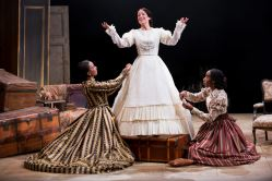 Sameerah Luqmaan-Harris as Elizabeth Keckly, Naomi Jacobson as Mary Todd Lincoln and Joy Jones as Ivy