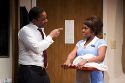 Bowman Wright as Dr. Martin Luther King, Jr. and Joaquina Kalukango as Camae