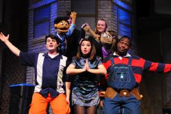 Devon Ross (Princeton). Heather Friedman (Kate Monster), Sam Nystrom (Brian), Evie Korovesis (Christmas Eve); Everyone's a Little Bit Racist