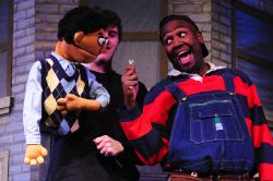 Devon Ross (Princeton) and Jonathan Faircloth (Gary Coleman). Welcome to Avenue Q