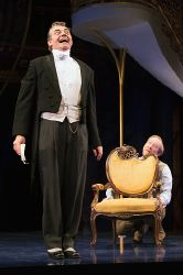 Malvolio (Richard Sheridan Willis) and Sir Andrew Aguecheek (James Konicek)