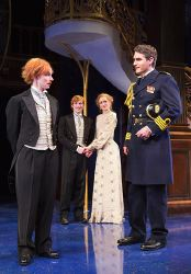 Duke Orsino (Michael Brusasco), Viola (Emily Trask), Sebastian (William Vaughan) and Olivia (Rachel Pickup)